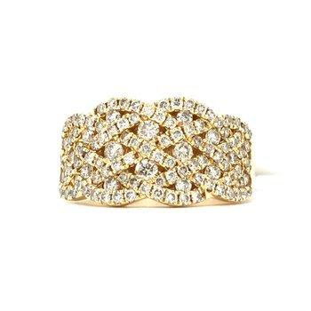 14KY Diamond Fashion Ring w/ 1.19 ctw, Size 7