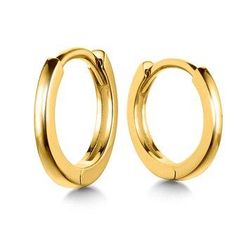 14KY Small Huggie Earrings