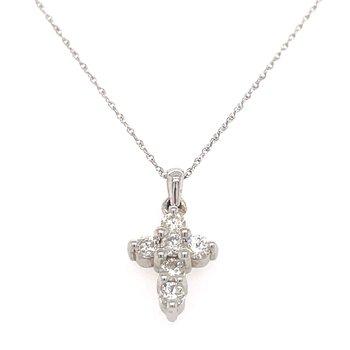 14KW Diamond Cross Pendant w/ 0.50 ctw