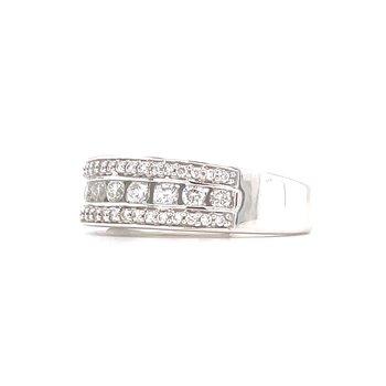 14KW Diamond Channel Set Wedding Band w/ 0.50 ctw, Size 7