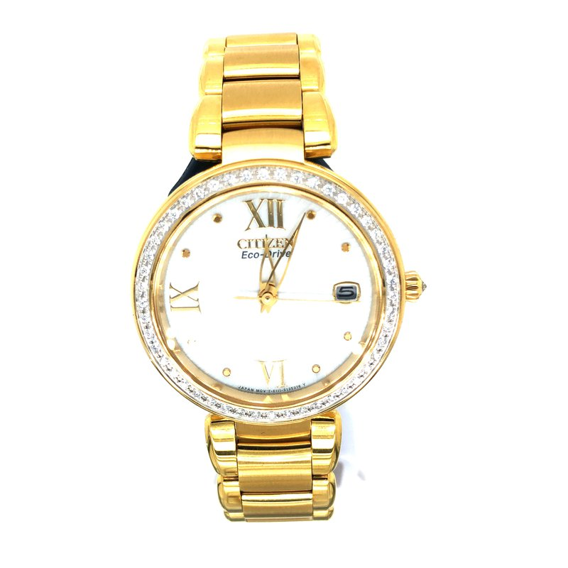 Citizen Watches in Stock Stainless Steel Yellow Tone Signature Watch