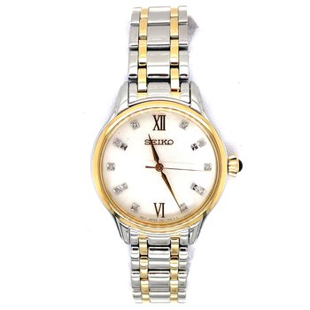 Two-Tone Stainless Steel Sapphire Crystal Women's Watch
