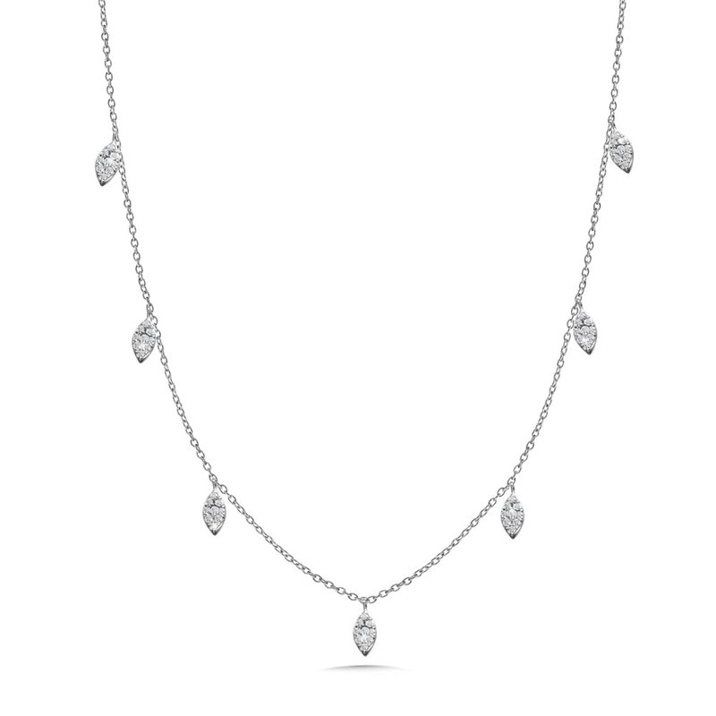 Green Brothers Collection 14KW Diamond Necklace w/ 0.20 ctw