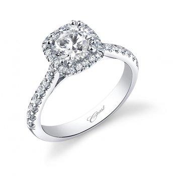 14KW Engagement Semi Mount Engagement Ring w/ 0.35 ctw, Size 6.5