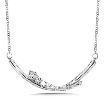 14KW Diamond Fashion Necklace w/ 0.33 ctw