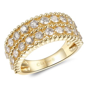 14KY Creme Brulee Diamond Ring w/ 1.37 ctw, Size 7