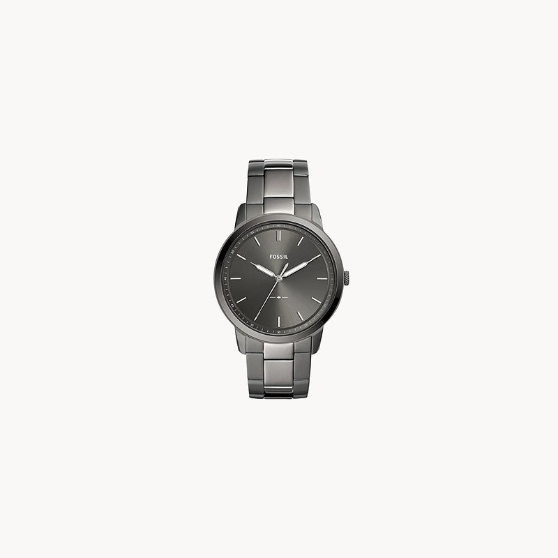Fossil Stainless Steel Black-Toned Watch with a Gray Face