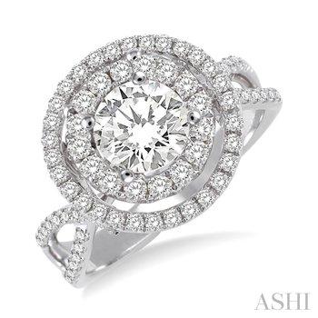 18 KW Diamond Semi-Mount Engagement Ring