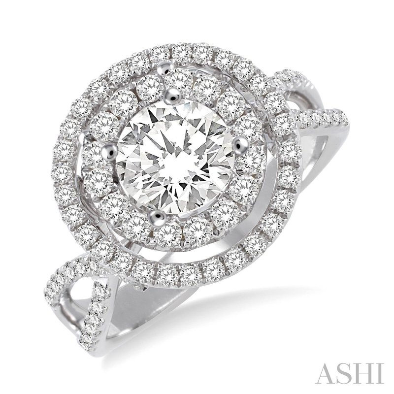 Green Brothers Collection 18 KW Diamond Semi-Mount Engagement Ring