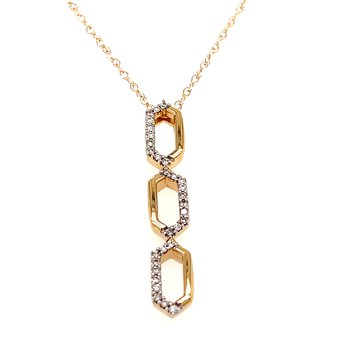 14KY Diamond Fashion Pendant w/ 0.12 ctw