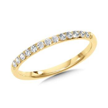 14KY Diamond Band w/ 0.25 ctw, Size 7.25