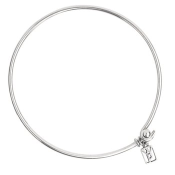 Sterling Silver Wire Bangle Bracelet