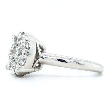 "14KW Princess Cut Diamond ""Lovebright"" Ring w/ 1.50 ctw"