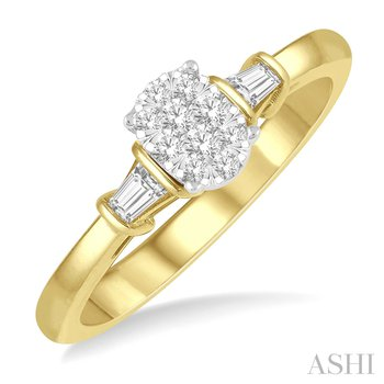 """14KY """"LoveBright"""" Diamond Engagement Ring w/ 0.20 ctw, Size 7"""