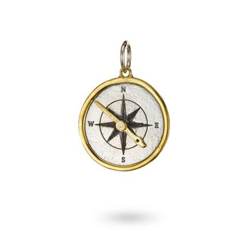 Silver And Brass Seaward Compass Pendant