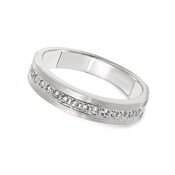 10KW Diamond Bead Set Band w/ 0.20 ctw
