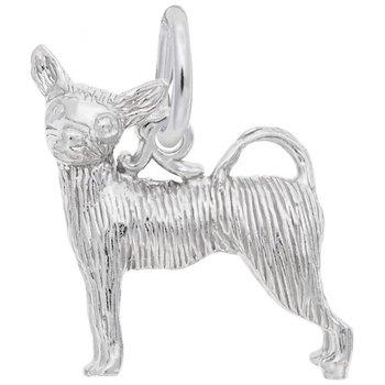 Sterling Silver Chichuahua Charm