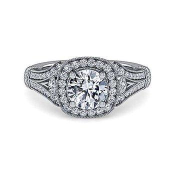 14KW Diamond Engagement Ring w/ 0.45 ctw Size 6.5