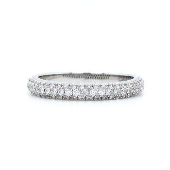 14KW Diamond Matching Micro-Pave Wedding Band w/ 0.44 ctw, Size 6.75