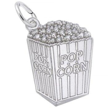 Sterling Silver Popcorn Charm