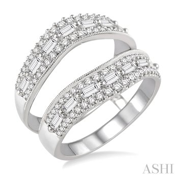 14KW Diamond Insert Ring w/ 1.05 ctw Size 7.0