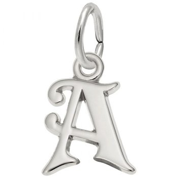 """Sterling Silver Intial """"A"""" Charm"""