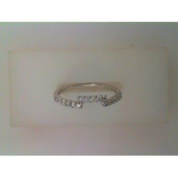 14KW Diamond Wedding Band w/ 0.25 ctw, Size 7