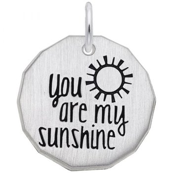 """Sterling Silver """"You Are My Sunshine"""" Charm"""