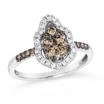 14KW Fashion Diamond Ring w/ 0.58 ctw, Size 7