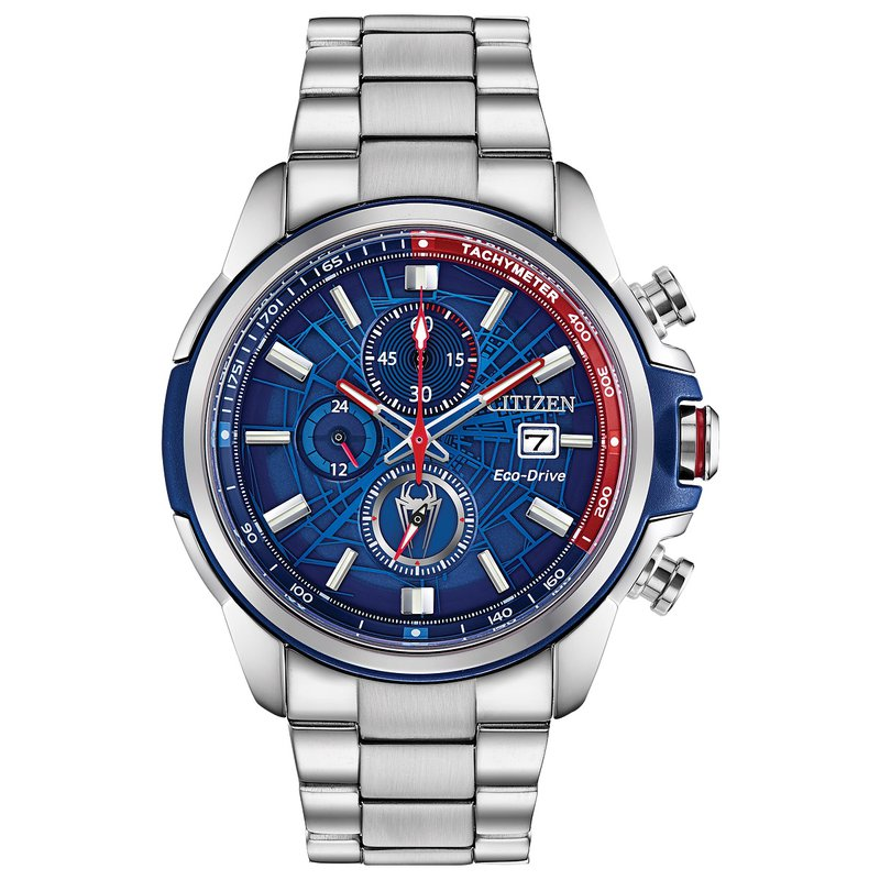 Citizen Watches in Stock Stainless Steel Marvel Collection (Spider Man) Eco-Drive Watch