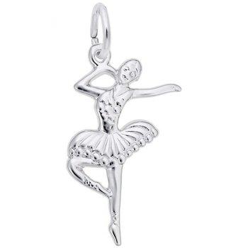 Sterling Silver Ballet Dancer Charm