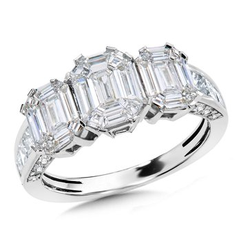 14KW Baguette and Round Diamond Band w/ 1.5 ctw Size 7