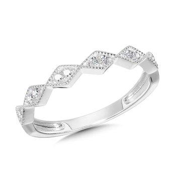 14KW Diamond Band w/ 0.10 ctw, Size 7