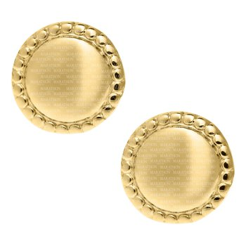 14KY Round Earrings
