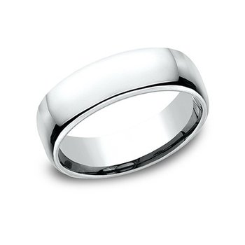 14KY 6.5 mm Comfort Fit Wedding Band, Size 8