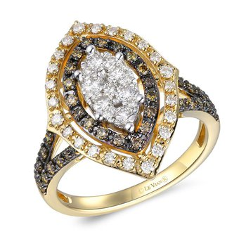 14KY Diamond Fashion Ring w/ 1.05 ctw, Size 7