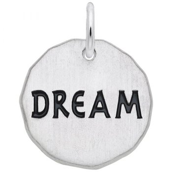 Sterling Silver Dream Charm Tag