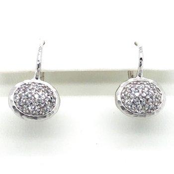 Sterling Silver White Sapphire Earrings