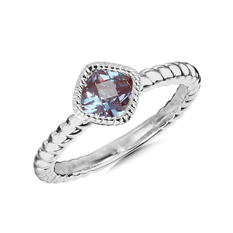 Green Brothers Collection Sterling Silver Created Alexandrite Ring Size 7