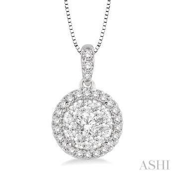 "14KW Lovebright Diamond Pendant w/ 0.35 ctw 18"" Chain"