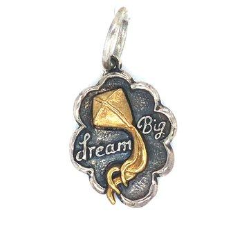 Sterling Silver & Brass Dream Big Charm