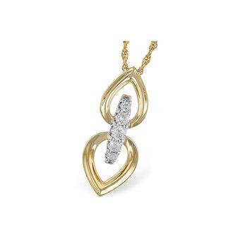 14KY Diamond Fashion Necklace w/ 0.22 ctw