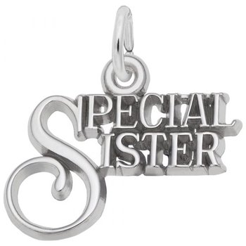 Sterling Silver Special Sister Charm