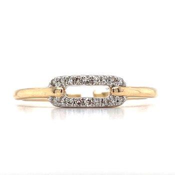 10KY Diamond Fashion Ring w/ 0.08 ctw, Size 7