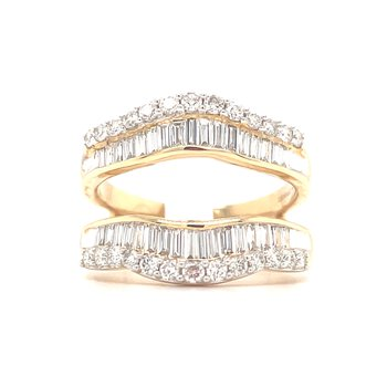 14KY Diamond Baguette Ring Guard w/ 1.0 ctw, Size 7