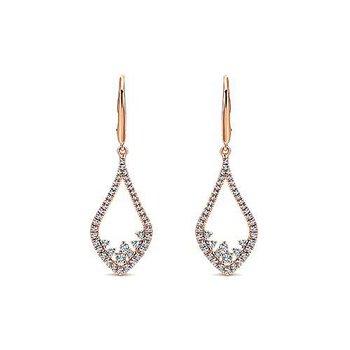 14KW Diamond Fashion Dangle Earrings w/ 0.74 ctw