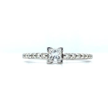 14KW Diamond Engagement Ring w/ 0.38 ctw, Size 6.75