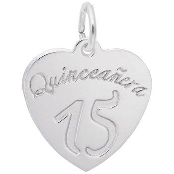 Sterling Silver Quincenera Heart