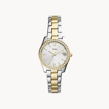 Two-Tone Small Round Bracelet Watch