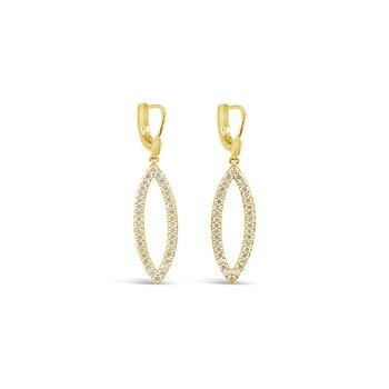 14KY Nude Diamond Earrings w/ 1.74 ctw